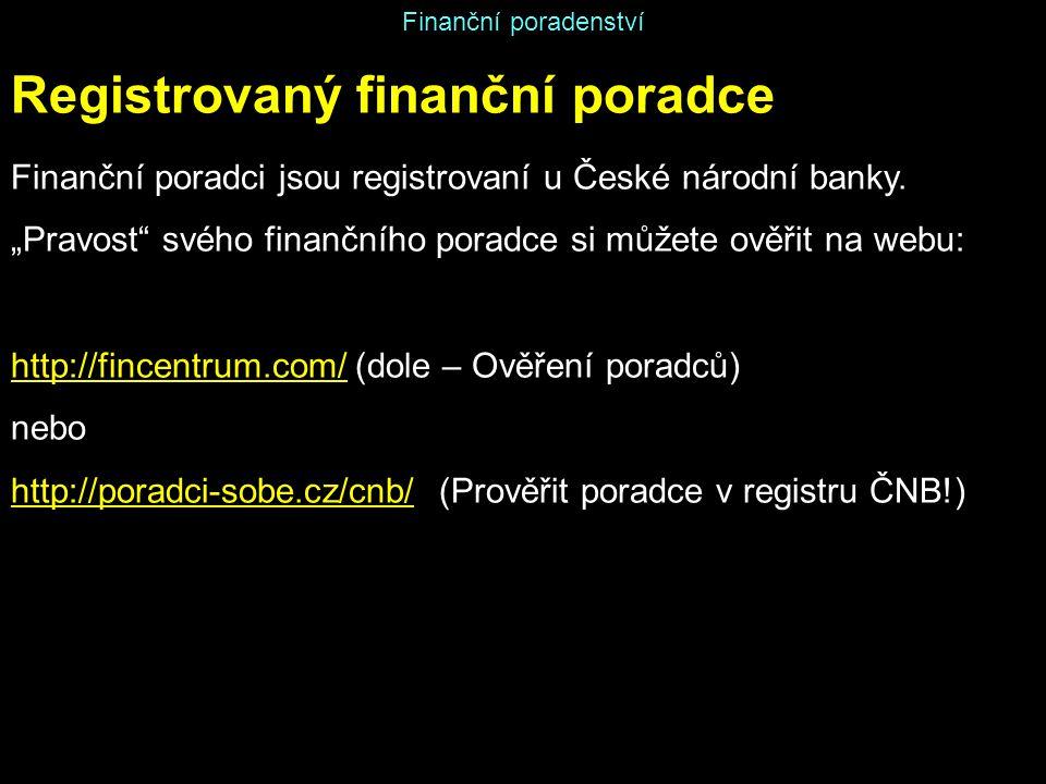 Registrovaný finanční poradce