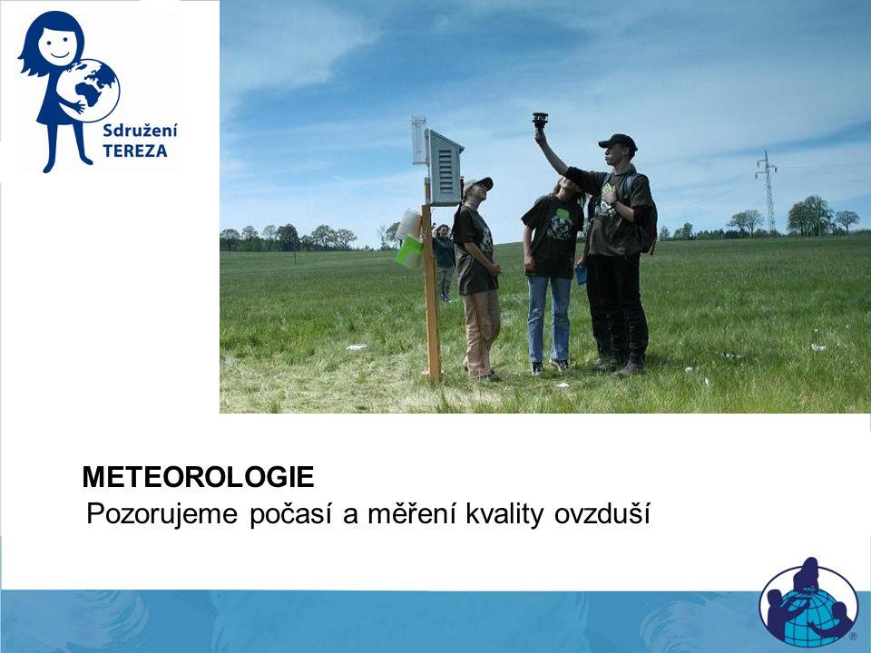Meteorologie METEOROLOGIE Pozorujeme počasí a měření kvality ovzduší