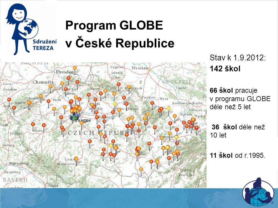 Program GLOBE v České Republice Stav k 1.9.2012: 142 škol