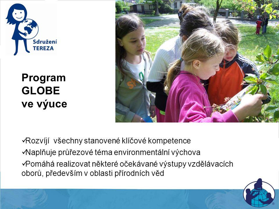 Program GLOBE ve výuce Rozvíjí všechny stanovené klíčové kompetence