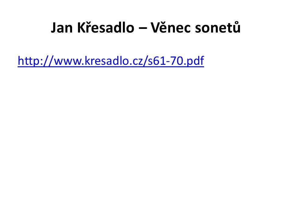 Jan Křesadlo – Věnec sonetů