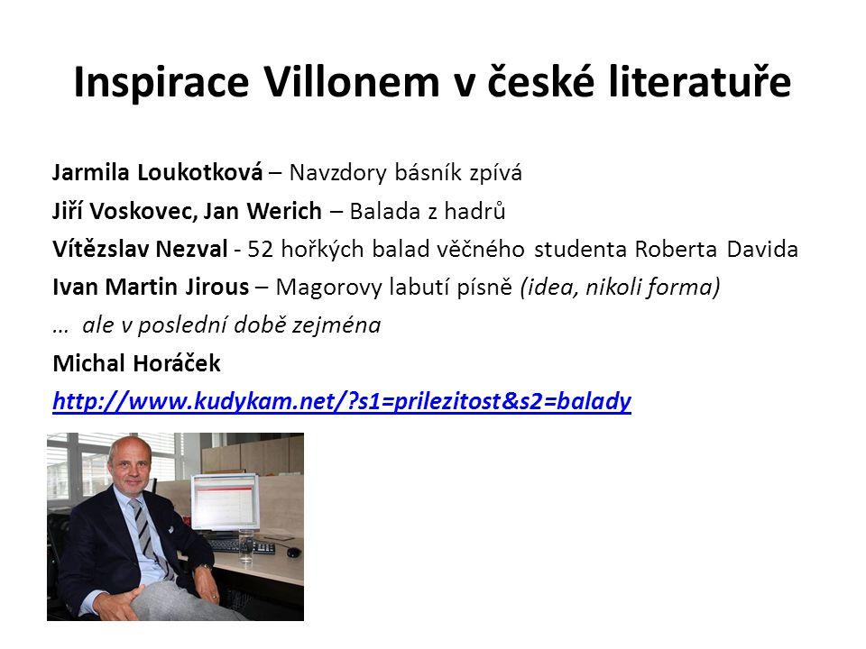 Inspirace Villonem v české literatuře