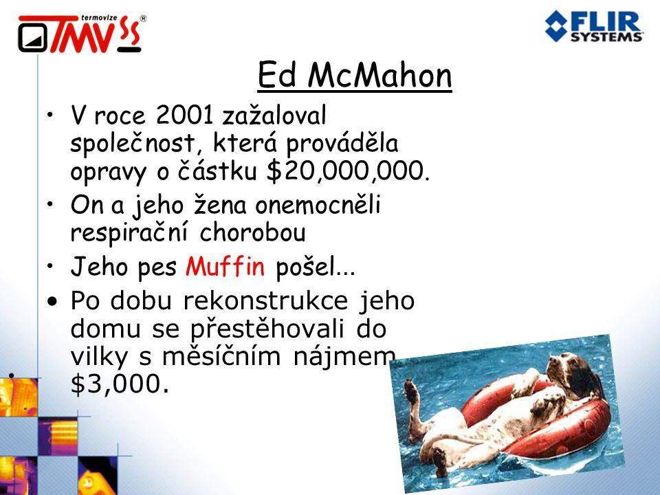 Ed McMahon V roce 2001 zažaloval společnost, která prováděla opravy o částku $20,000,000. On a jeho žena onemocněli respirační chorobou.