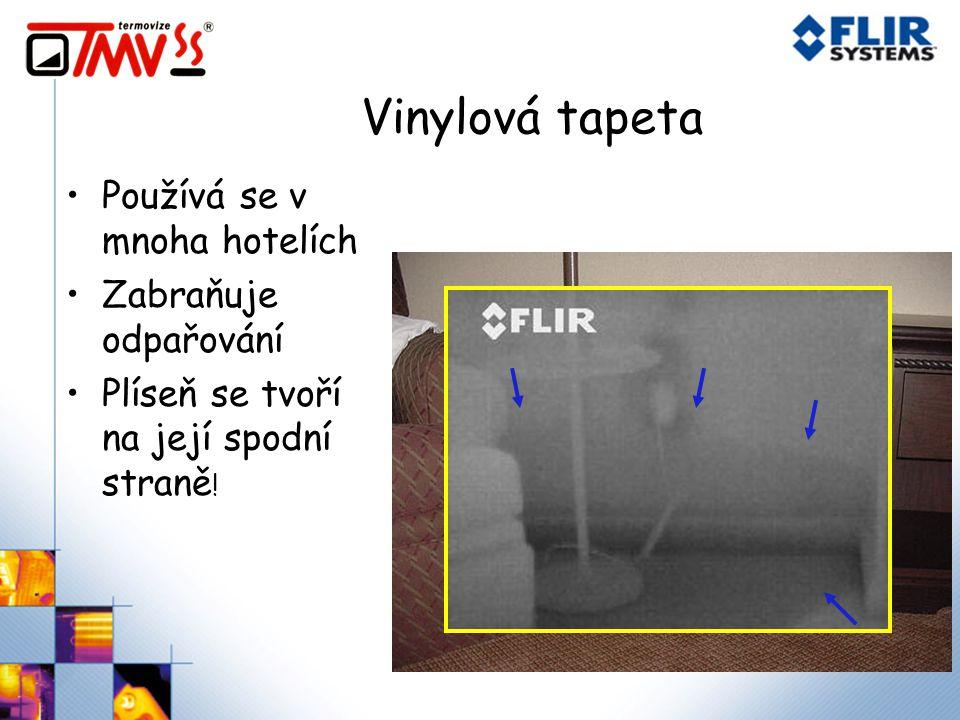 Vinylová tapeta Používá se v mnoha hotelích Zabraňuje odpařování
