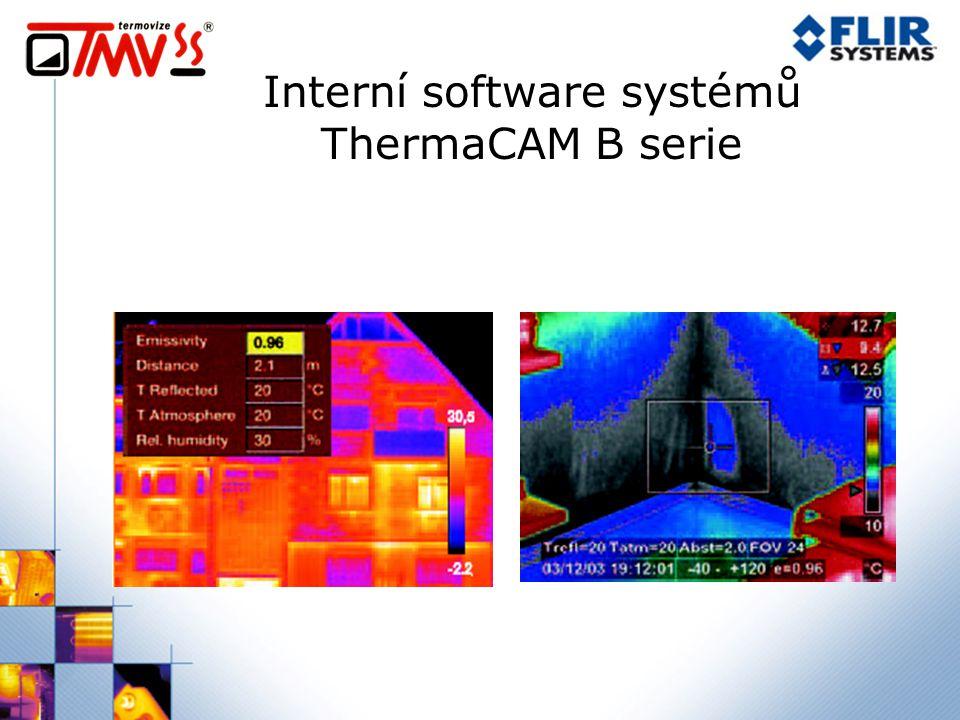 Interní software systémů ThermaCAM B serie