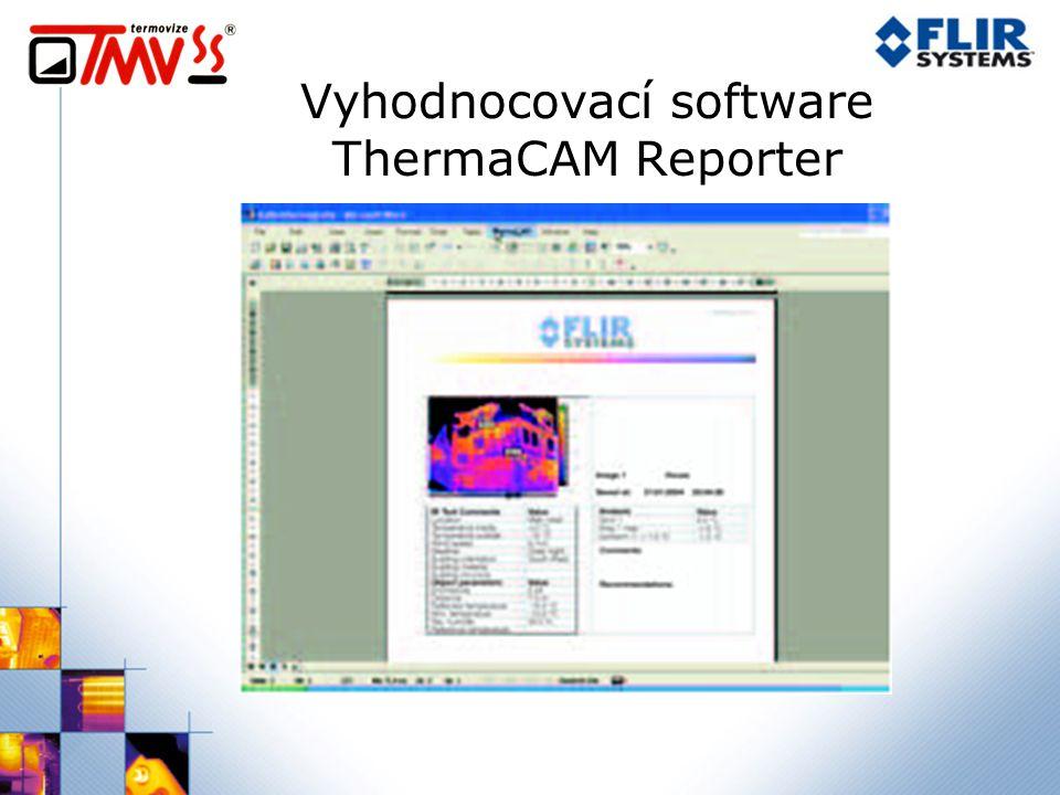 Vyhodnocovací software ThermaCAM Reporter