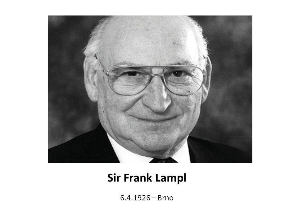 Sir Frank Lampl 6.4.1926 – Brno