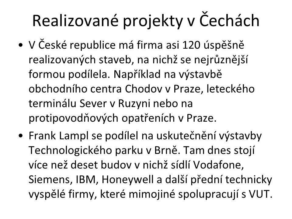 Realizované projekty v Čechách