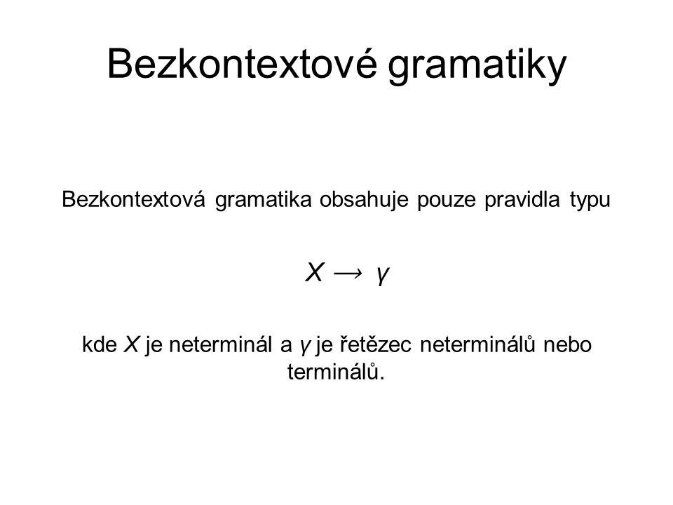 Bezkontextové gramatiky