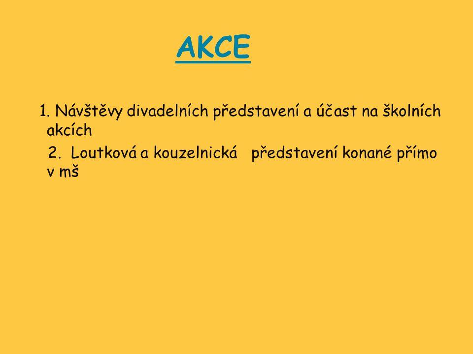 AKCE 1. Návštěvy divadelních představení a účast na školních akcích 2.