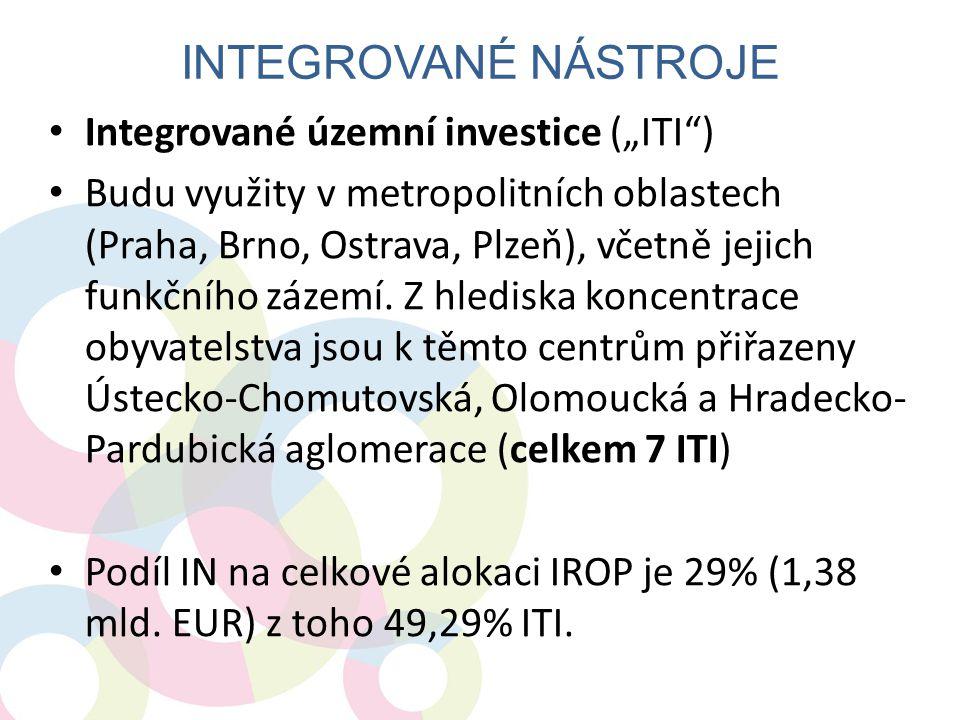 """Integrované nástroje Integrované územní investice (""""ITI )"""