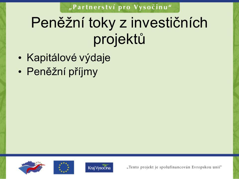 Peněžní toky z investičních projektů
