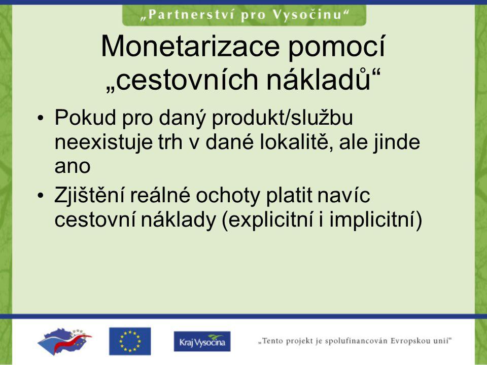 """Monetarizace pomocí """"cestovních nákladů"""