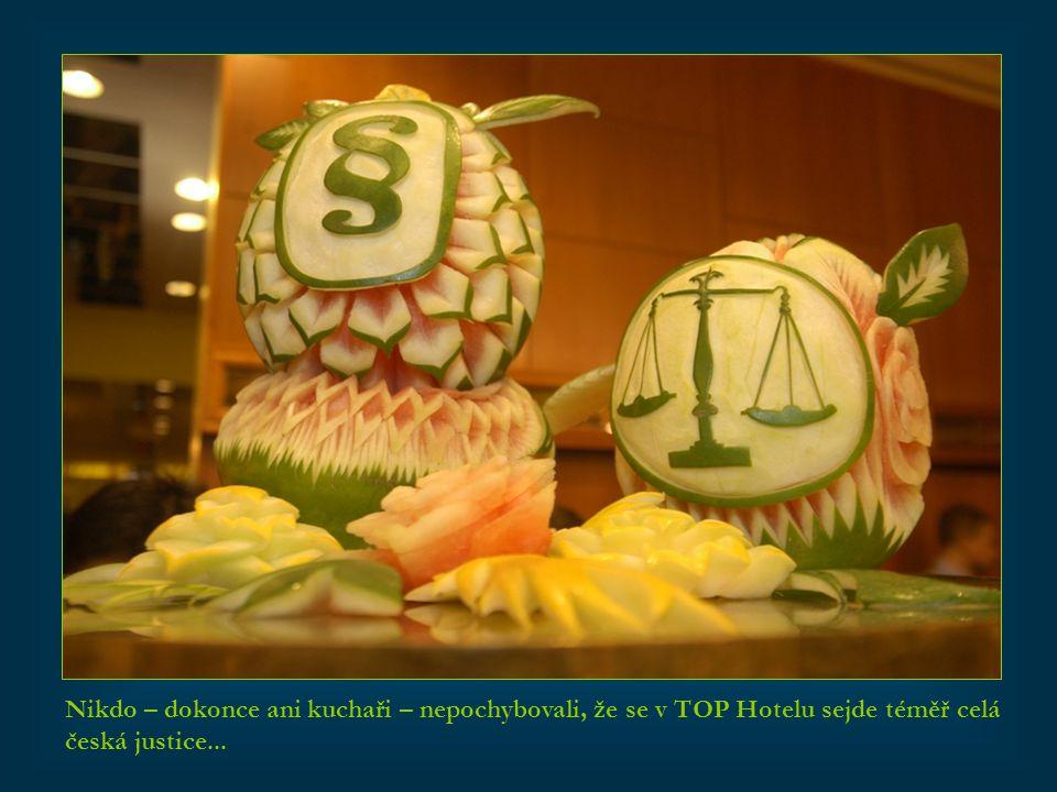 Nikdo – dokonce ani kuchaři – nepochybovali, že se v TOP Hotelu sejde téměř celá česká justice...