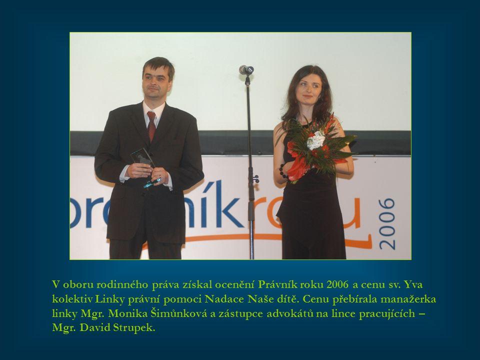 V oboru rodinného práva získal ocenění Právník roku 2006 a cenu sv