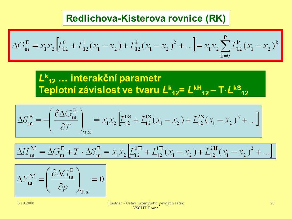 Redlichova-Kisterova rovnice (RK)