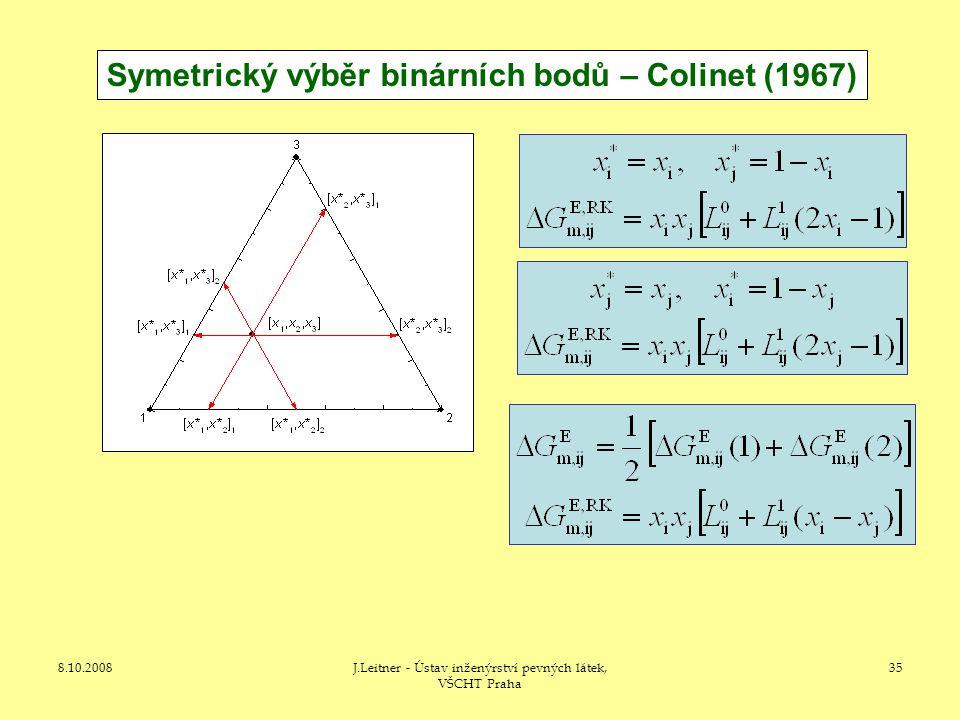 Symetrický výběr binárních bodů – Colinet (1967)