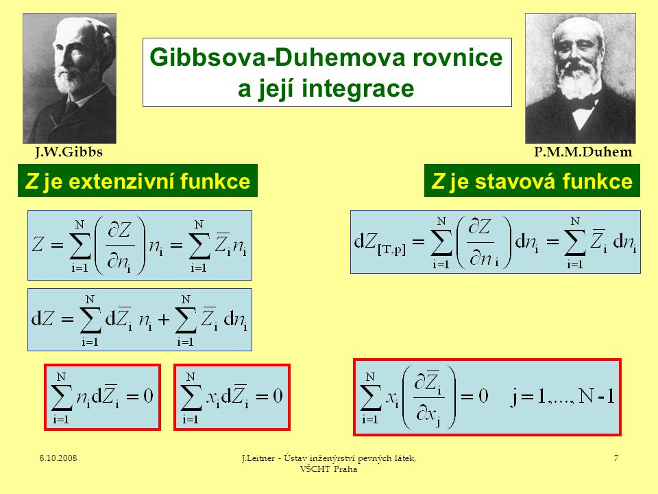 Gibbsova-Duhemova rovnice