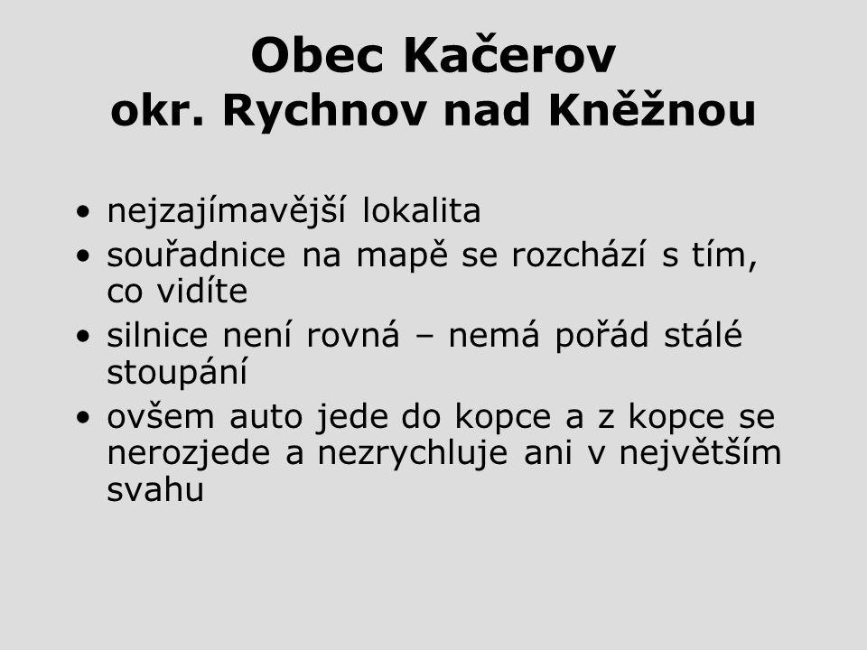 Obec Kačerov okr. Rychnov nad Kněžnou