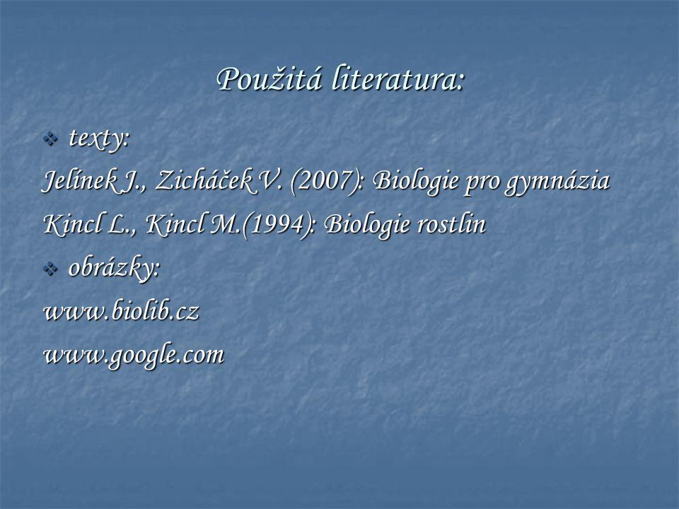 Použitá literatura: texty: