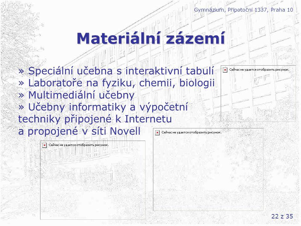 Materiální zázemí » Speciální učebna s interaktivní tabulí