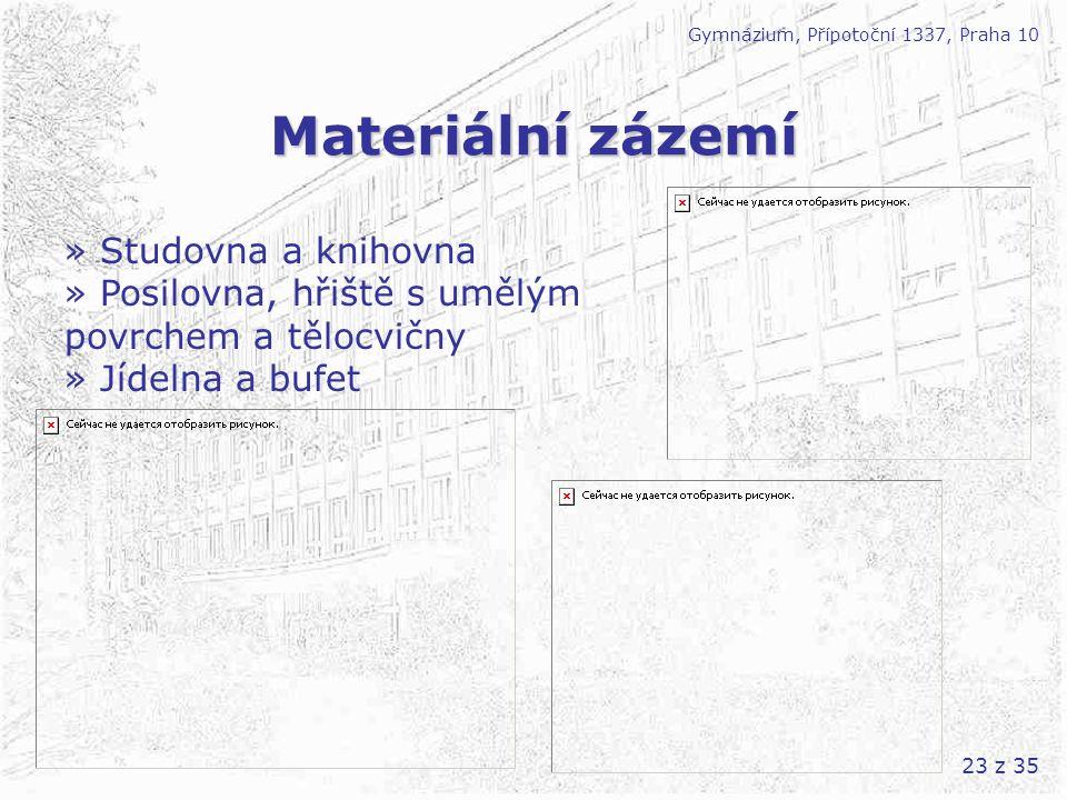 Materiální zázemí » Studovna a knihovna » Posilovna, hřiště s umělým