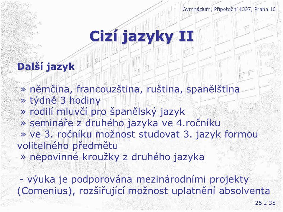 Cizí jazyky II Další jazyk
