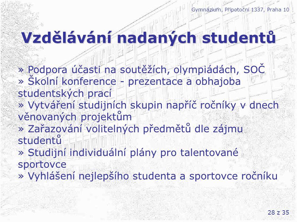 Vzdělávání nadaných studentů