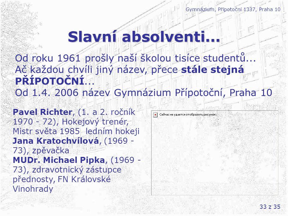 Gymnázium, Přípotoční 1337, Praha 10