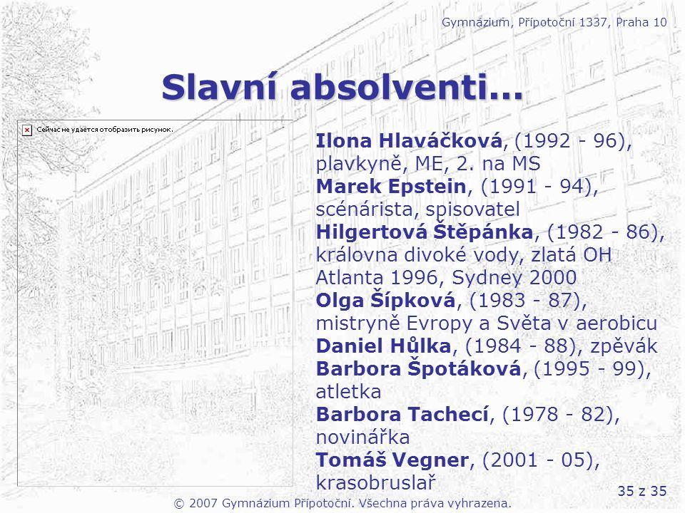 © 2007 Gymnázium Přípotoční. Všechna práva vyhrazena.