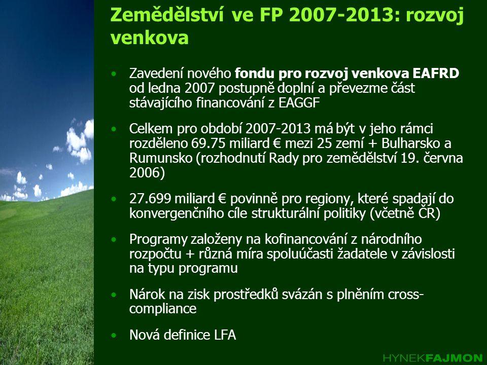 Zemědělství ve FP 2007-2013: rozvoj venkova