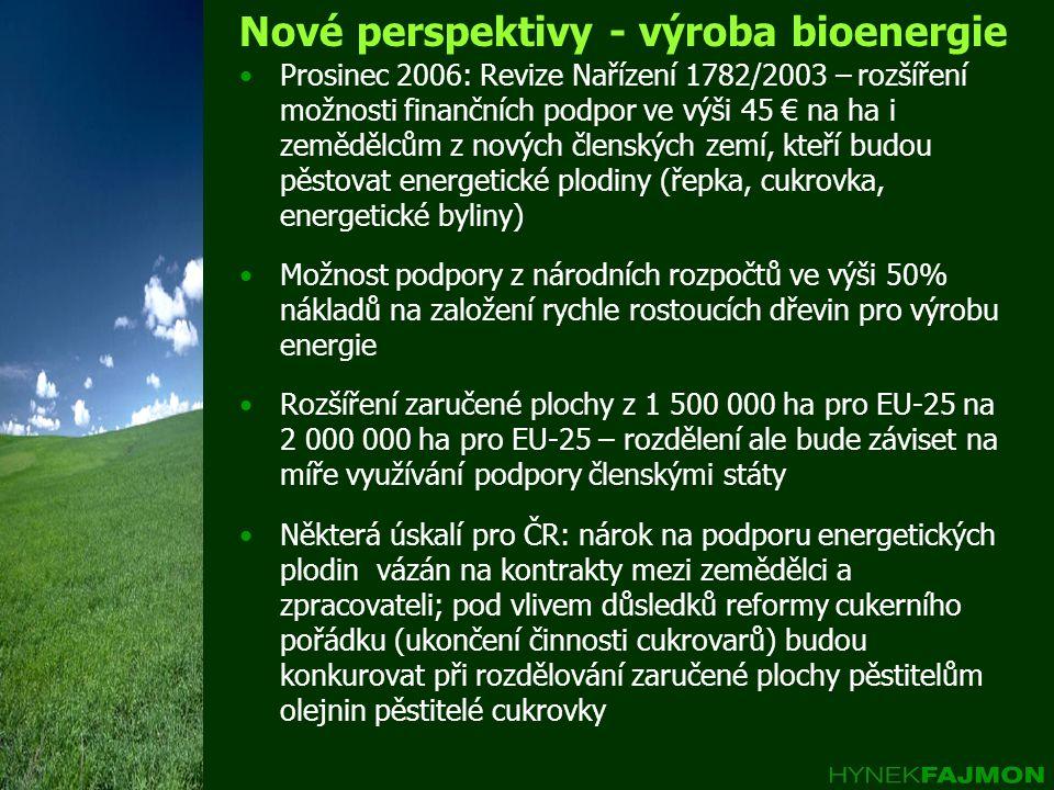 Nové perspektivy - výroba bioenergie