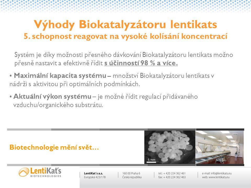Výhody Biokatalyzátoru lentikats 5