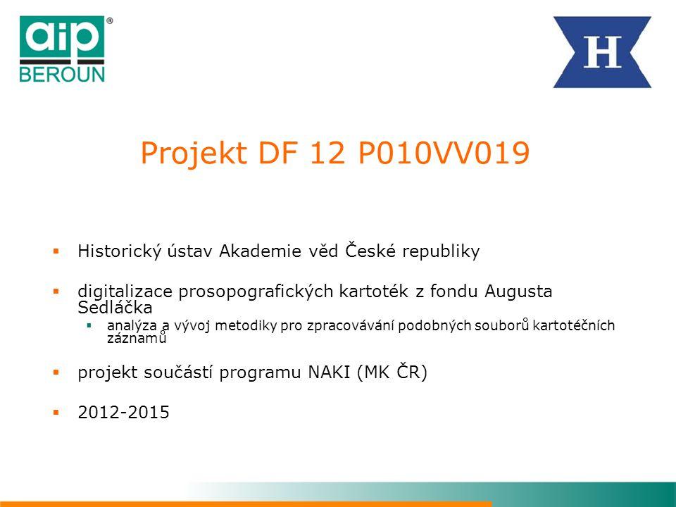 Projekt DF 12 P010VV019 Historický ústav Akademie věd České republiky