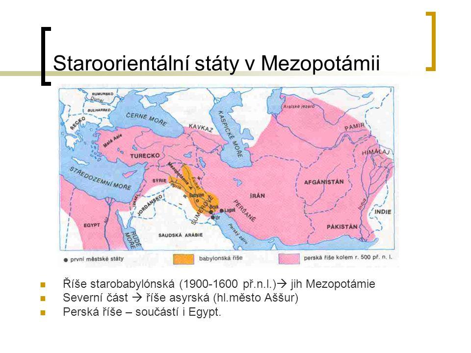 Staroorientální státy v Mezopotámii