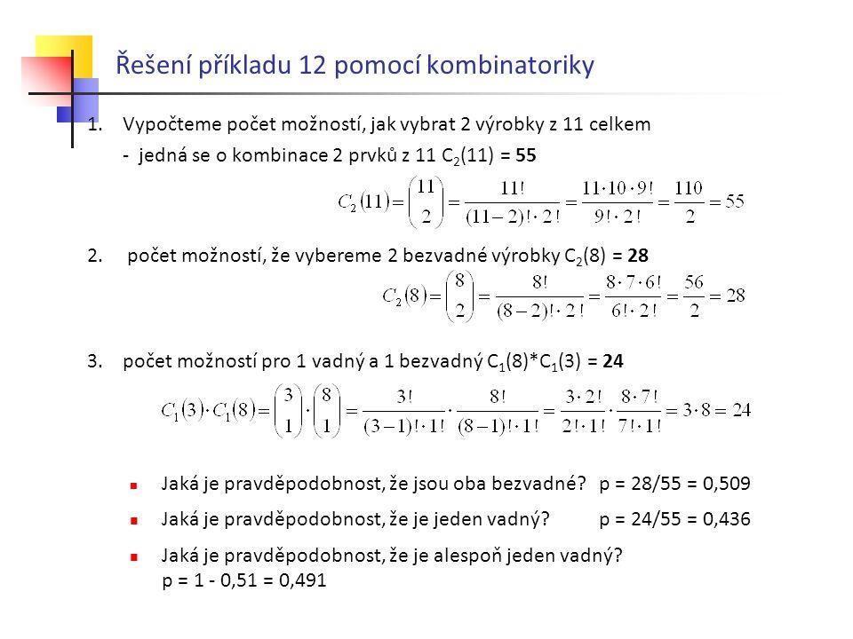 Řešení příkladu 12 pomocí kombinatoriky