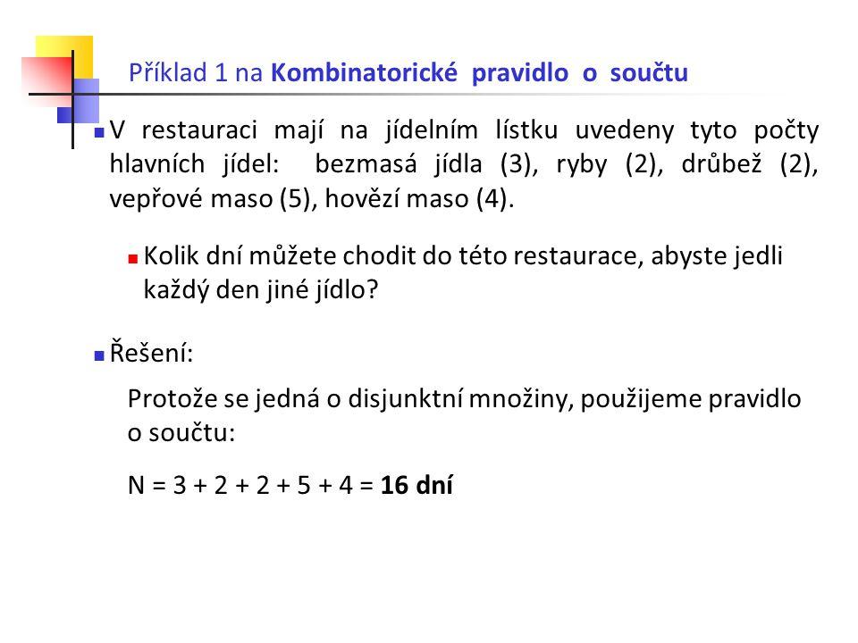 Příklad 1 na Kombinatorické pravidlo o součtu
