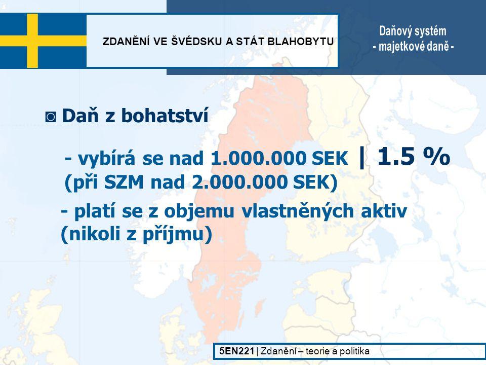- vybírá se nad 1.000.000 SEK | 1.5 % (při SZM nad 2.000.000 SEK)