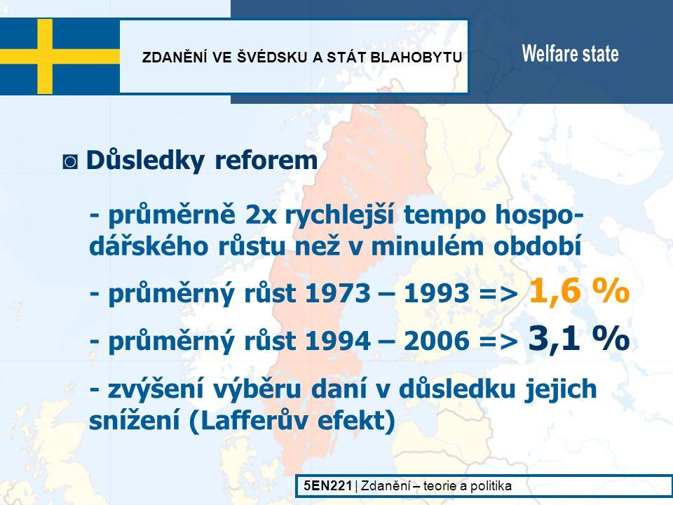 - průměrný růst 1973 – 1993 => 1,6 %