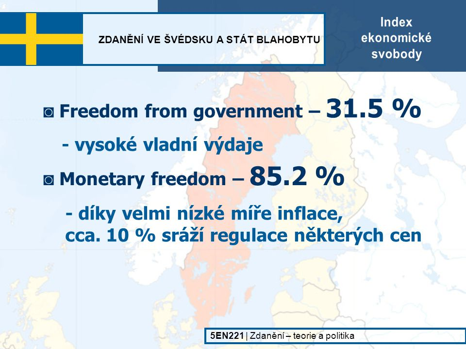 ◙ Freedom from government – 31.5 %