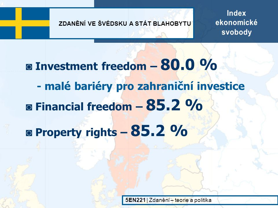 ◙ Investment freedom – 80.0 %