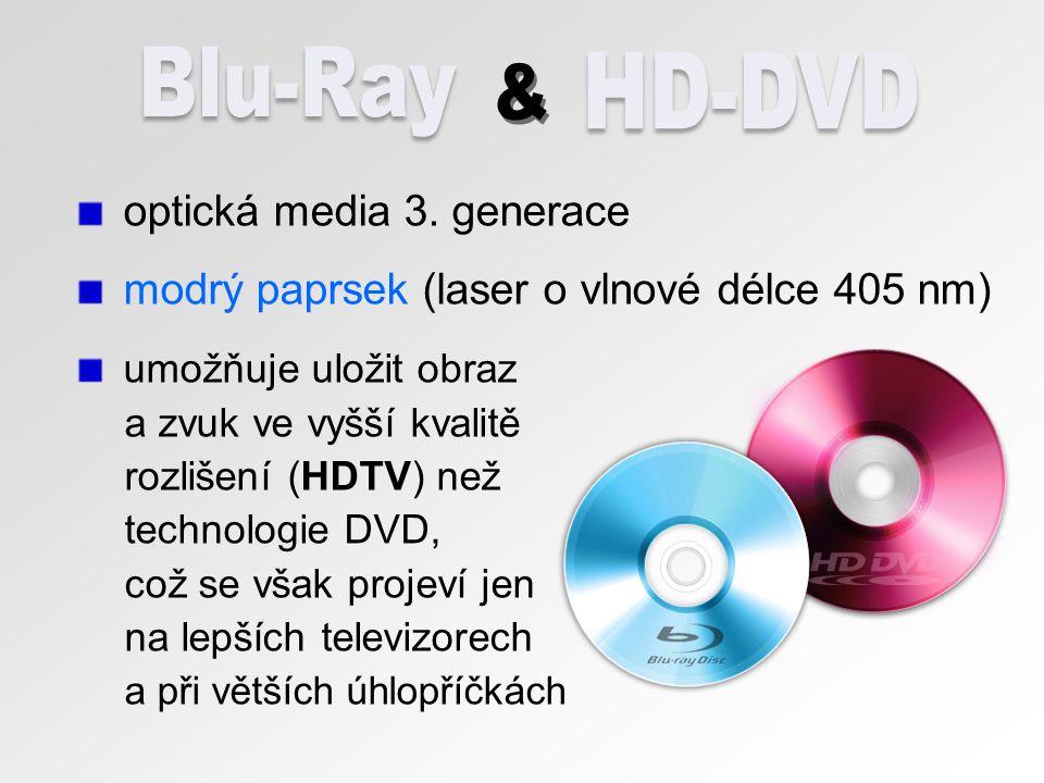 Blu-Ray HD-DVD & optická media 3. generace