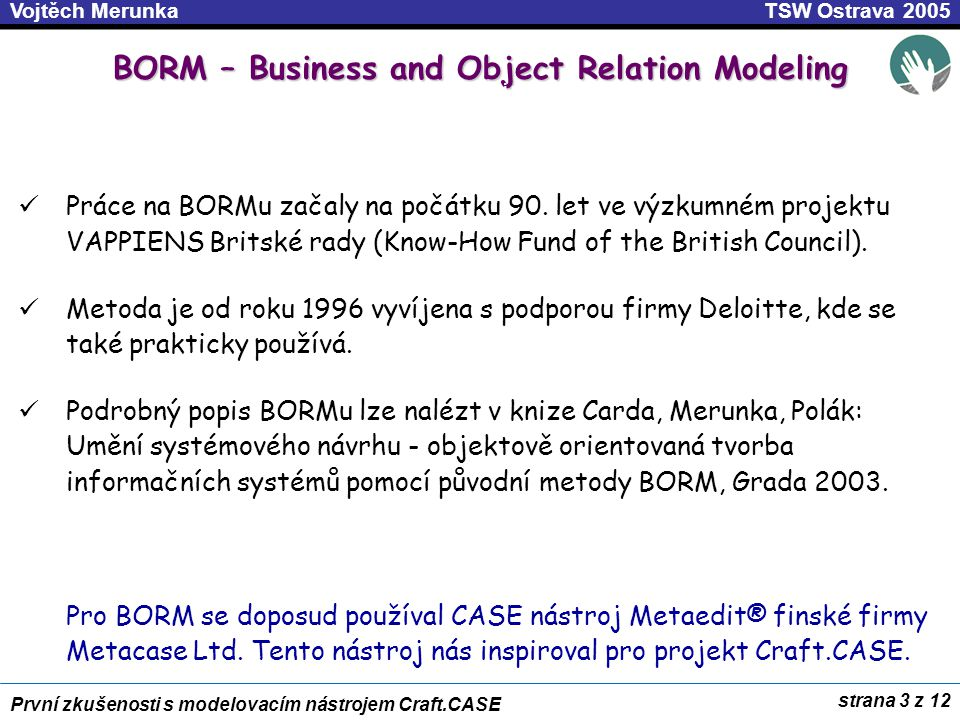 BORM – Business and Object Relation Modeling