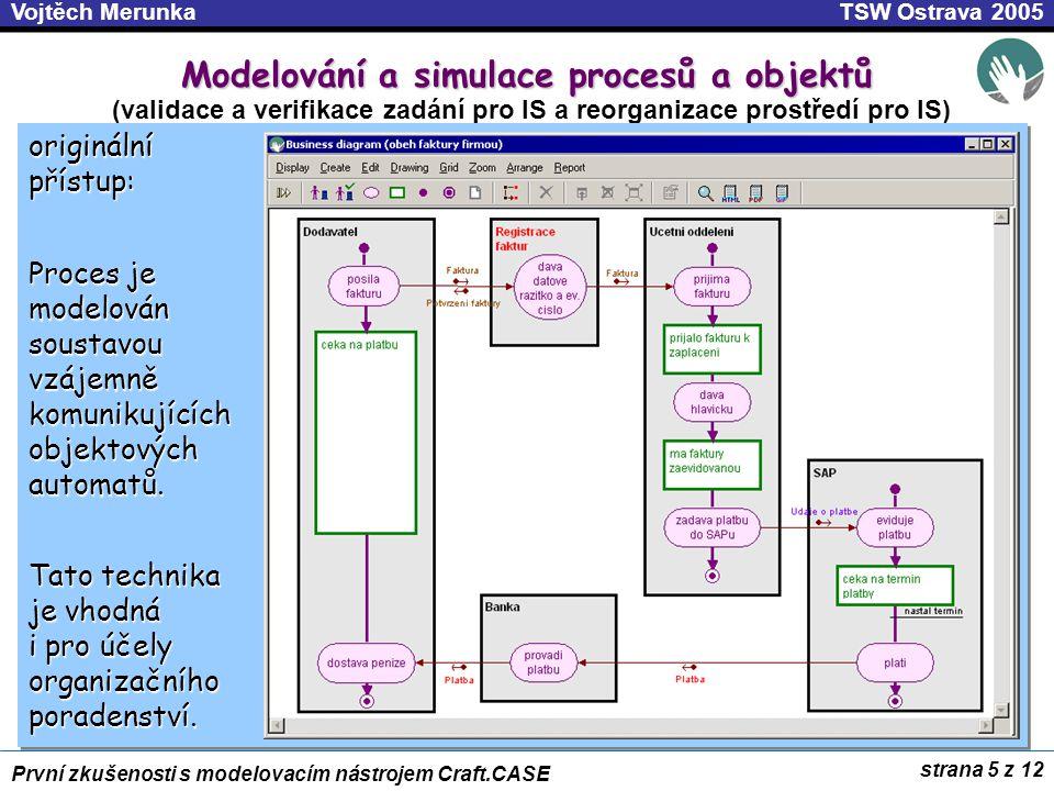 Modelování a simulace procesů a objektů