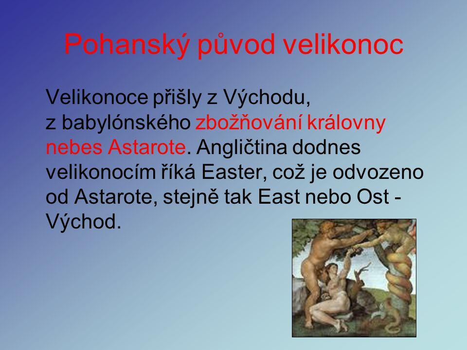Pohanský původ velikonoc