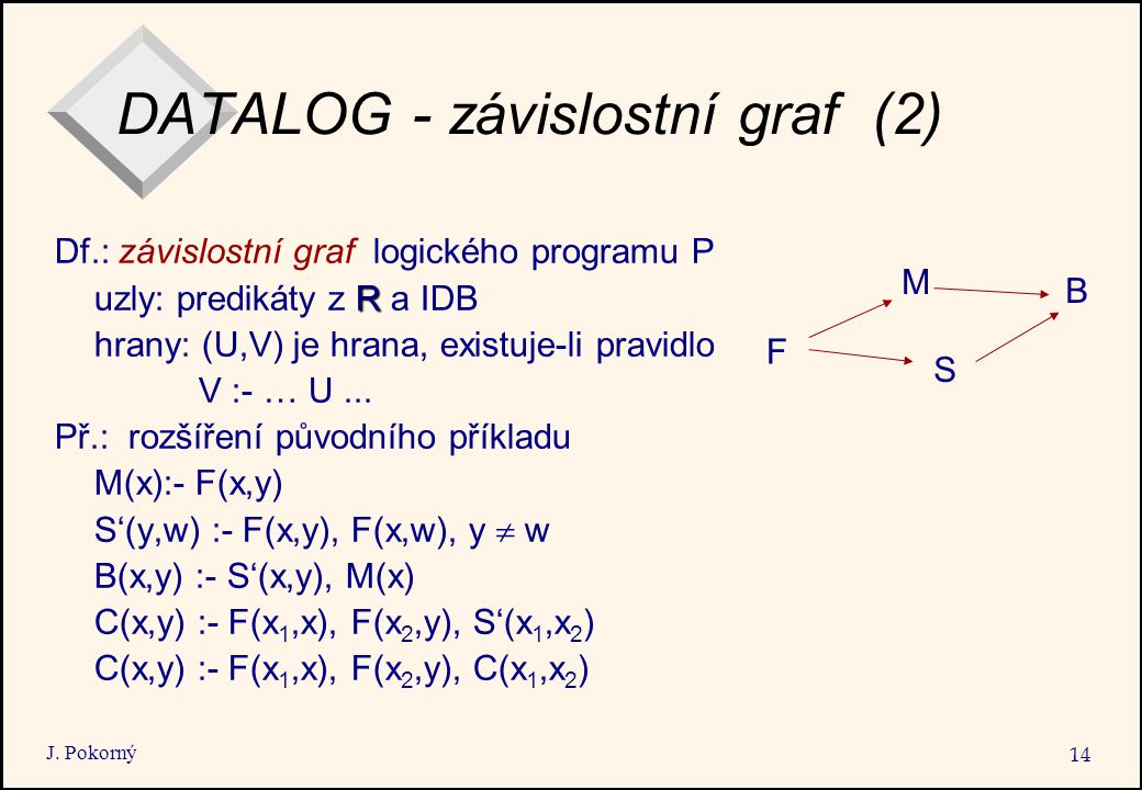 DATALOG - závislostní graf (2)