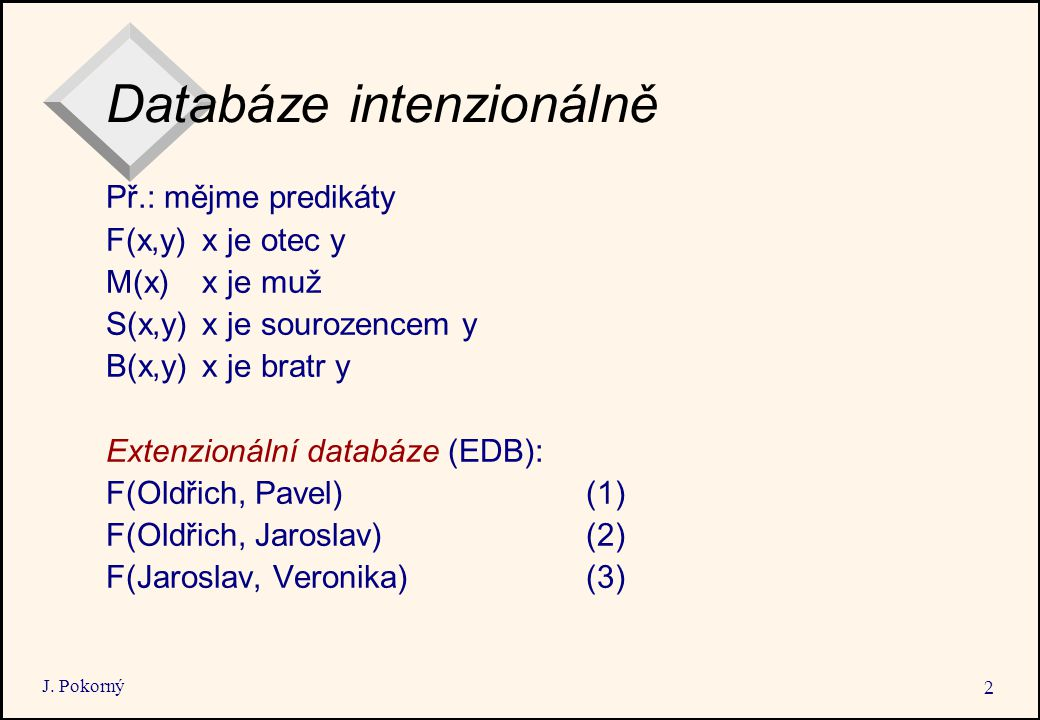 Databáze intenzionálně