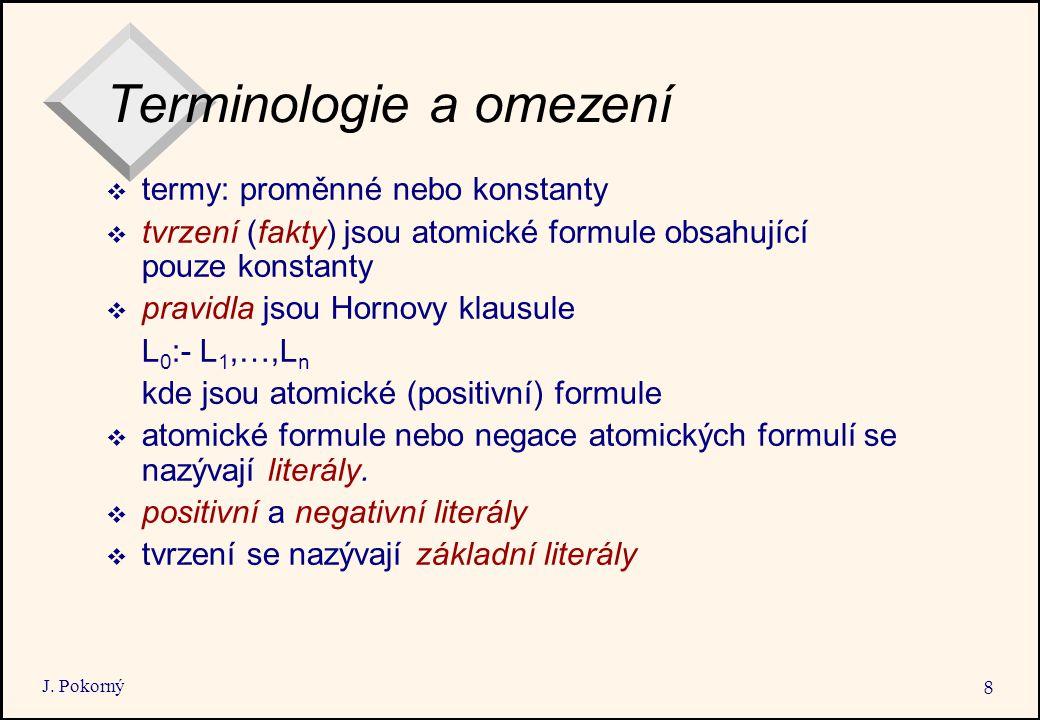 Terminologie a omezení