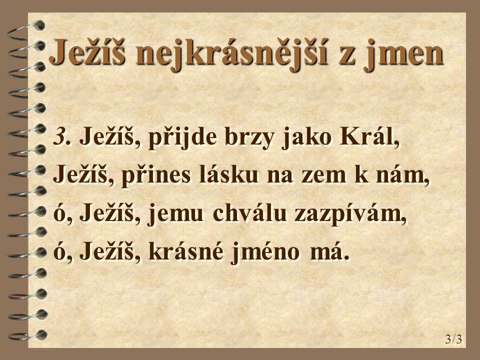 Ježíš nejkrásnější z jmen