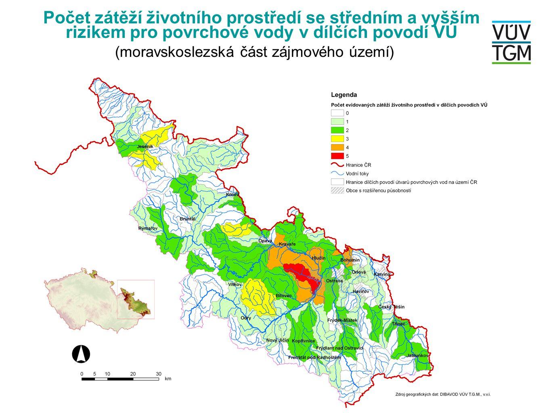 Počet zátěží životního prostředí se středním a vyšším